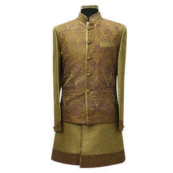 Festive Wear Full Sleeves Embroidered Indo Western Menswear, Adult