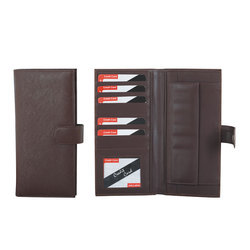 Two Fold Passport Cum Cheque Book Holder