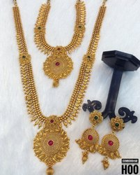 South Indian Style Combo Copper Jewellery Set - Combo 4