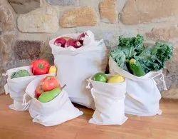 Reusable Produce Eco Friendly Sustainable Veggie Bags Cotton Produce Bag