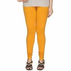 Churidar Plain Ladies Yellow Legging