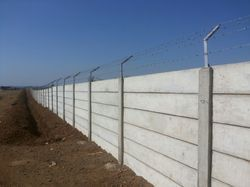 RCC Precast Compound Wall with Barbed wire Fencing