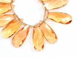 Imperial Topaz Quartz Pear Beads