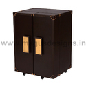 Brown Wood Designer Mini Bar Cabinet, Size: 60 X 50 X 80 Cm