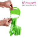 Floraware Baking Measurement Measuring Cups and Spoons Set green color - 8 Pieces Measuring Cup Set