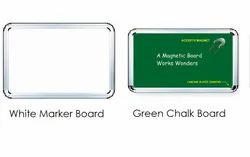Green Chalk And White Marker Boards