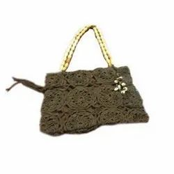 Brown Cotton Fabric Ladies Purses LP10001 for Party