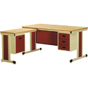Wooden L Shape Office Table