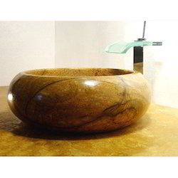 Golden Marble Round Wash Basin