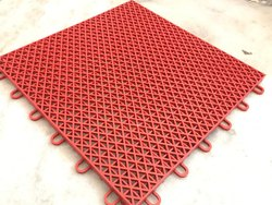 PP Interlocking Flooring Tile, Thickness: 5mm, 10mm
