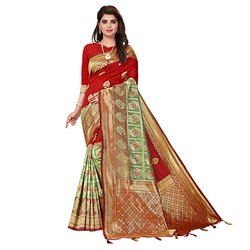 1871 Ethnic Jacquard Silk Saree