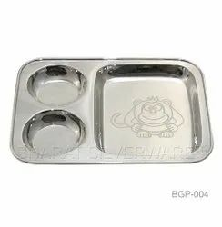 Pure Silver Baby Partition Plate