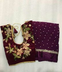 Party Wear , Festive Wear Saree With Readymade Blouse