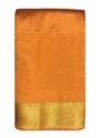 Plain Designer Golden Zari Work Silk Saree