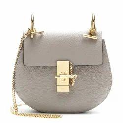 White Leather Ladies Designer Sling Bag