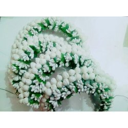 Artificial White flowers Brooch