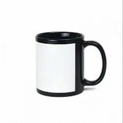 Plain Ceramic Sublimation Black Pach Coffee Mugs