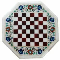 Marble Stone Flower Inlay Dining Table Top