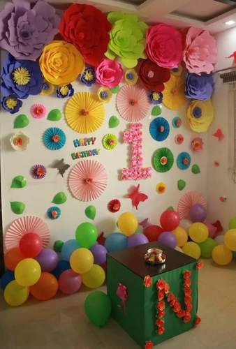 Stage Decoration With Handmade Giant Paper Flowers