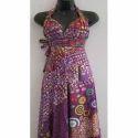 Purple Crepe Ladies Trendy Printed Dress