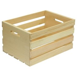 Open Crates Rubber Wood Packaging Wooden Crate, for Shipping