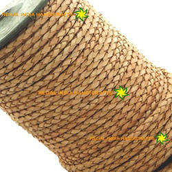 Natural Braided Leather Cord