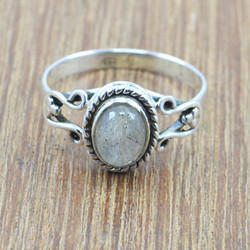 HANDMADE 925 STERLING SILVER JEWELRY RING LABRADORITE GEMSTONE WR-5014