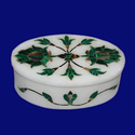 Oval Shape Handcrafted Jewellery Boxes