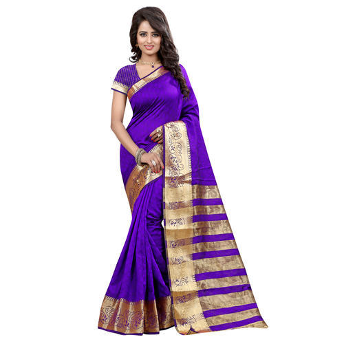 Jacquard Silk Purple Saree