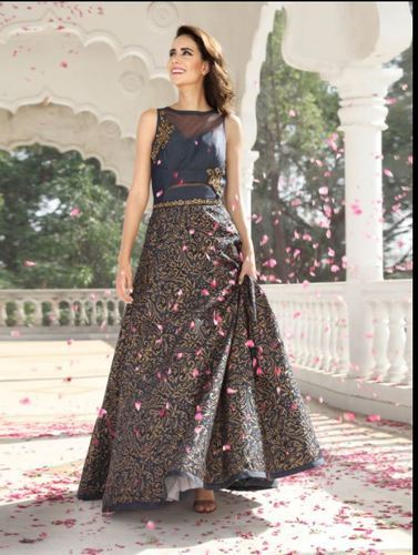 Georgette And Net Party Wear, Wedding Wear Anarkali Suit
