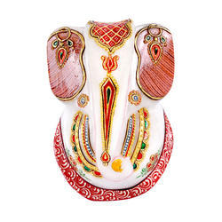 Marble Ganesh Idol Contemporary 5 inch