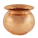 Plain Polished Copper Pooja Lota, For Home, Temple