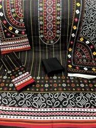 Lawn Bin Saeed Printed 3 Pcs Suit Unstitched, Dry clean
