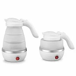 Foldable Silicone Electric Kettle (600ml, Power 800w, White)