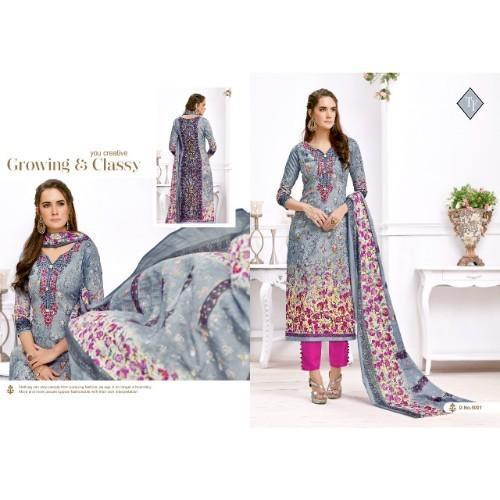b311f31601 Cotton Designer Printed Suits, Rs 1300 /piece, Standard Embroidery ...