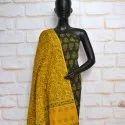 Multicolor Female Ajrakh Dress Material, Gsm: 100-150