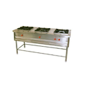 Stainless Steel Mild Steel 3 Burner Cooking Range