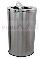 Silver Matt Swing Steel Dustbin, Capacity: 6-10 Liters And 16-20 Liters Usage ousehold, Office, Outdoor, Bathroom, Kitchen