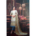 Ladies Cotton With Embroidery Suit