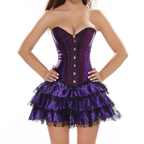 Sequined Overbust Corset Dress Party Wedding Western Formal Wear