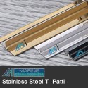 Stainless Steel Brass Finish T Patti