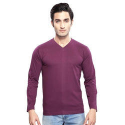 Clifton Men's Basic Full Sleeve V Neck T-Shirt