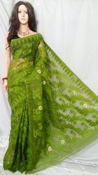 Green Dhakai Jamdani Saree