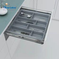 Modern PVC Cutlery Tray Organizer for Basket and Tandem Drawer