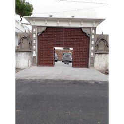 Cement Cemented Entrance Gate