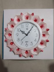 Quartz Red Designer Wall Clock, Size: 16 Inch, Model Name/Number: 1608