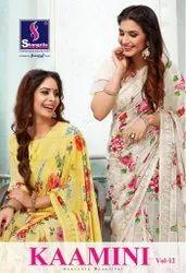 Shangrila Kaamini Vol-12 Digital Printed Saree Catalog Collection at Textile Mall Surat