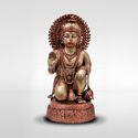 Mantra Multicolor Bronze Sitting Hanuman Idol