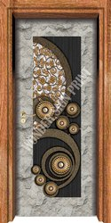 Brown Paper Wood Digital Door Paper Print