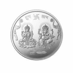 Laxmi Ganesha In High Relief - 10 Gm Coin